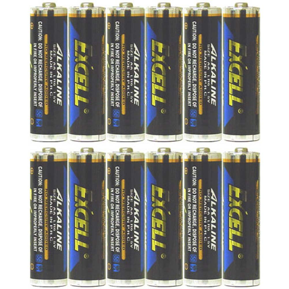 Twelve AA Alkaline Batteries Excell - View #1