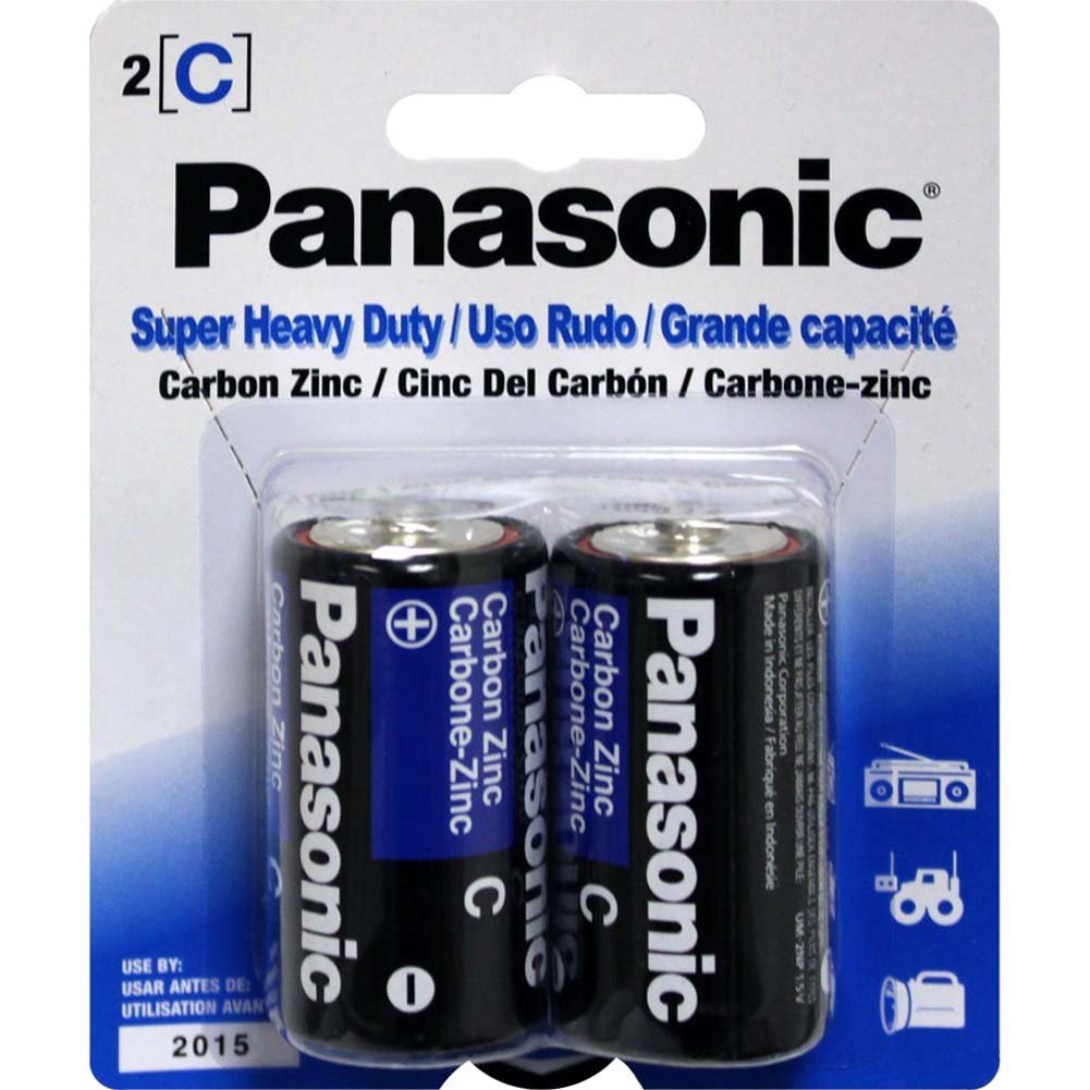 Two C Panasonic Super Heavy Duty Batteries - View #1