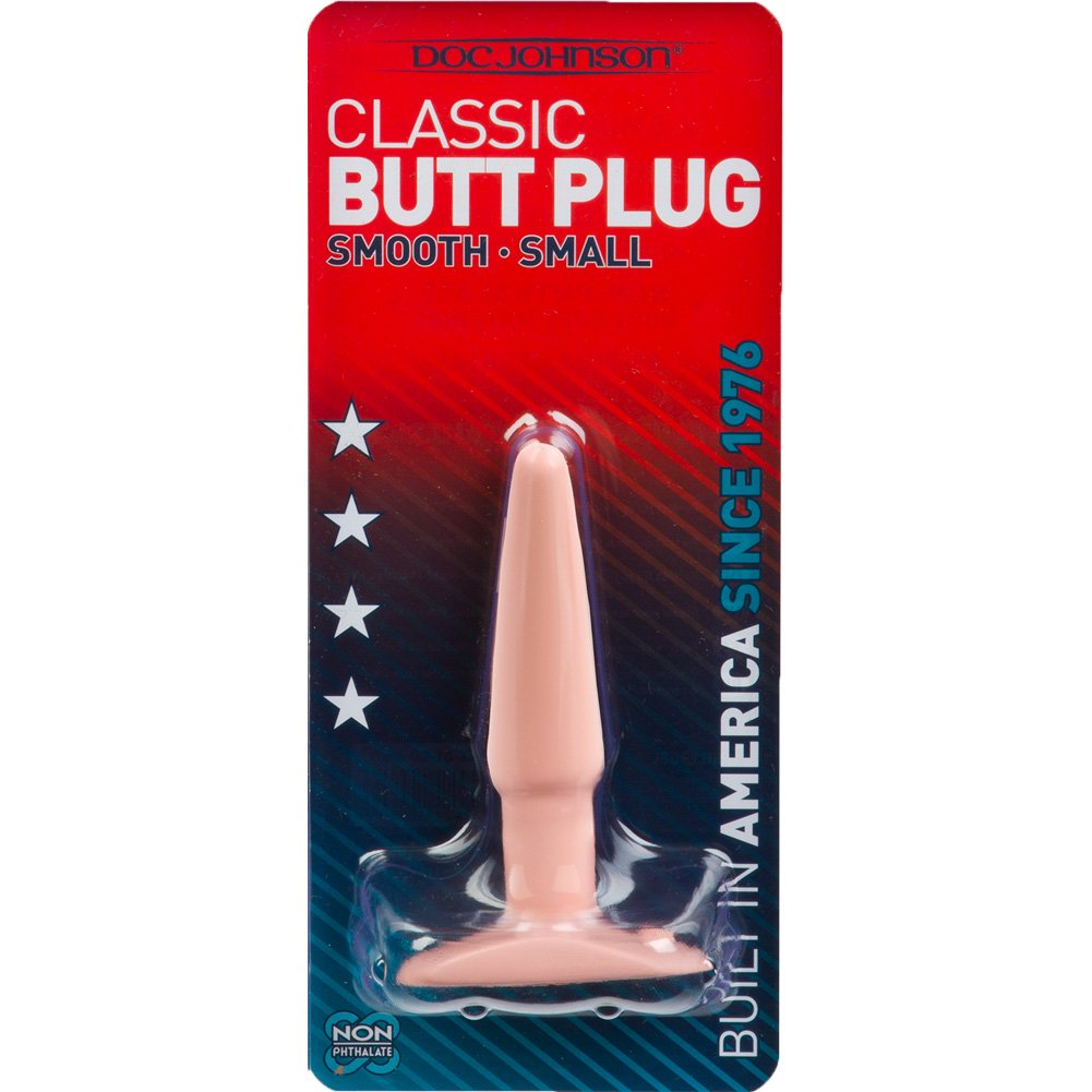 "Doc Johnson Classic Smooth Slim Butt Plug Small 4"" Natural - View #3"