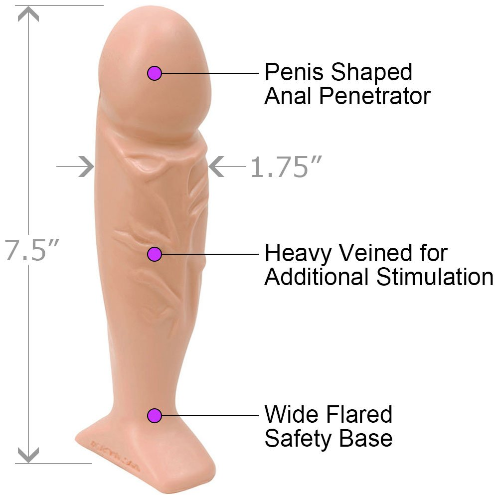 "Doc Johnson Classic Thick Tool Butt Plug 7.5"" Natural Flesh - View #1"