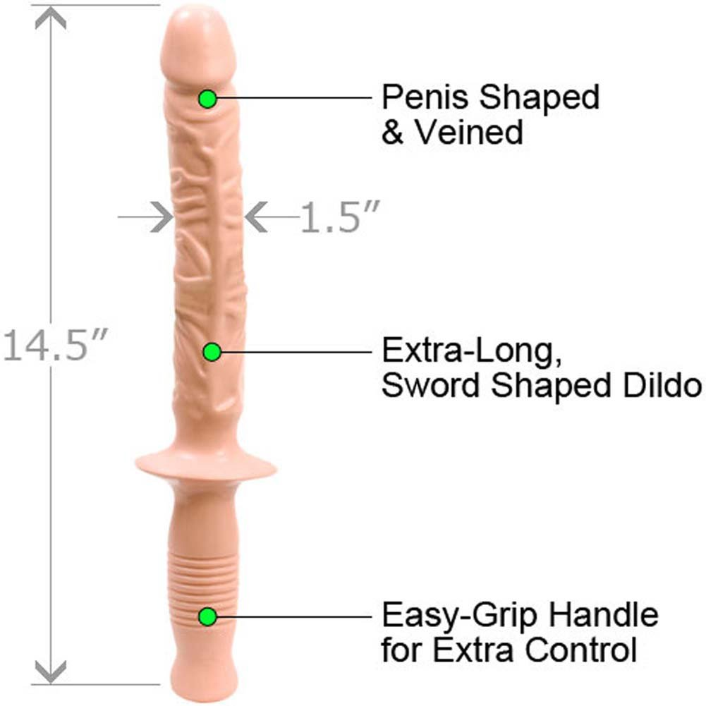 "Classic Manhandler Dildo 14.5"" Natural. - View #1"