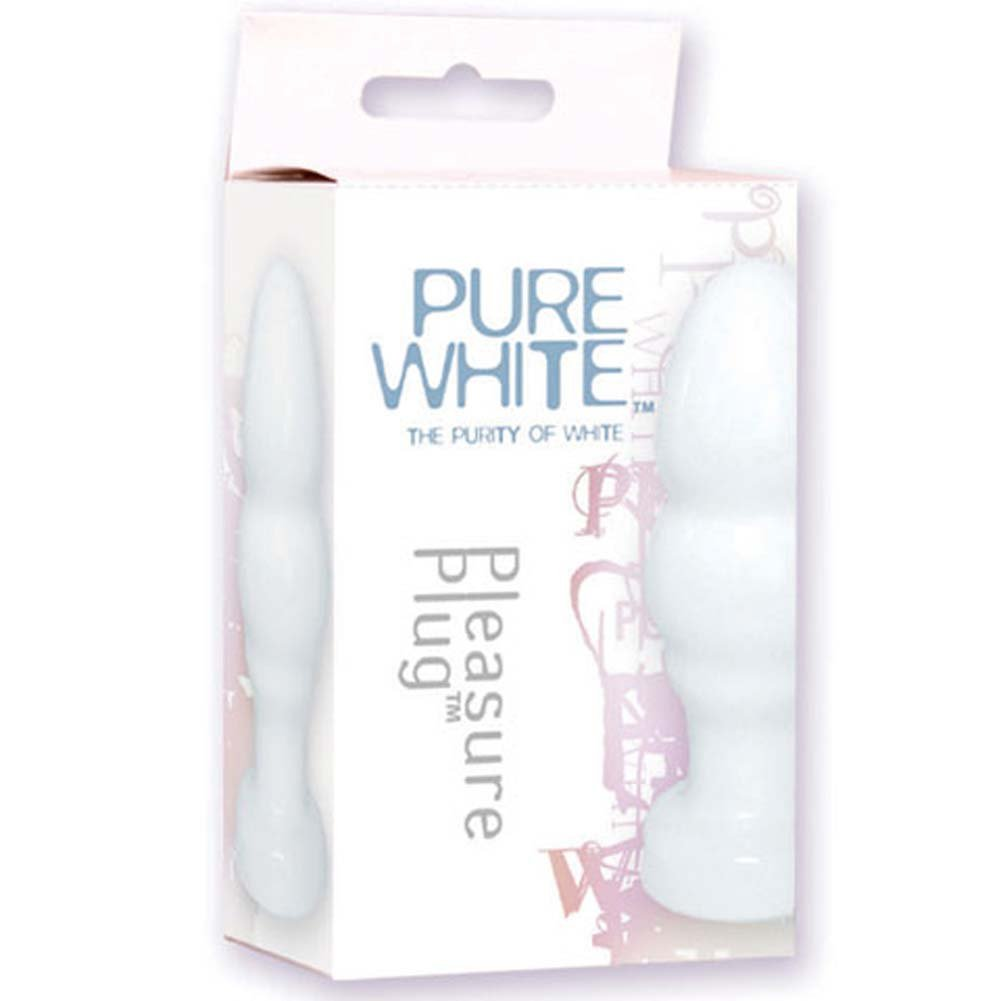 Pure White Pleasure Plug 4.5 In. - View #1