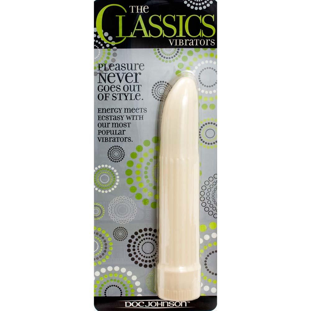 "Classic Vaginal Vibrator 7"" White - View #2"