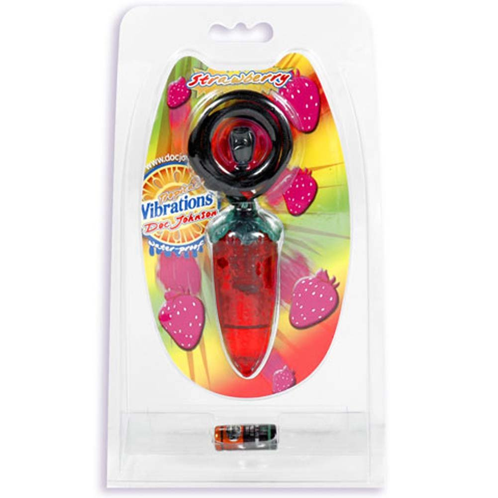 Tropical Vibrations Strawberry Waterproof Mini Vibe 3 In. - View #1