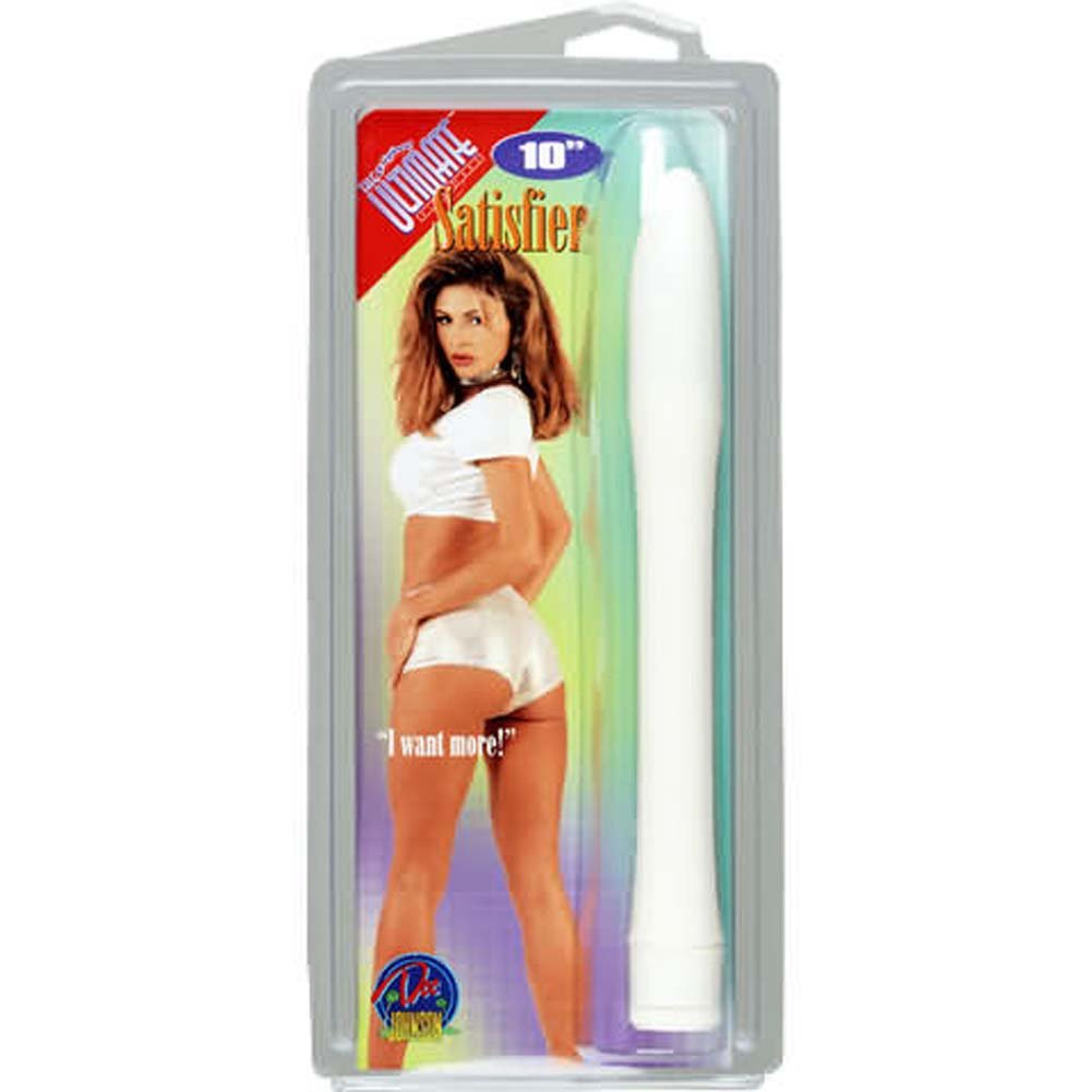 Ultimate Satisfier Slim White Vibrator 9 In. - View #1