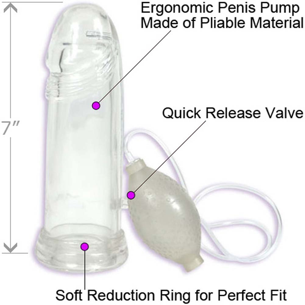 "P3 Pliable Penis Pump 7"" Clear - View #1"