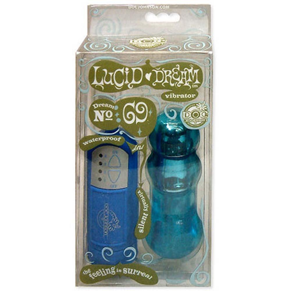 Lucid Dream Number 69 Waterproof Vibe Blue 4 In. - View #2