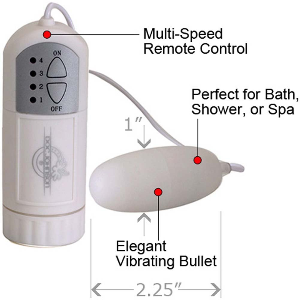"White Nights Bullet Vibe and Controller 2.25"" White. - View #1"