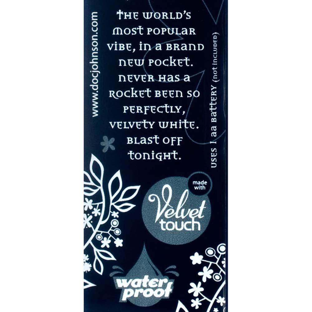 "White Nights Pocket Rocket Waterproof Vibe 4"" White. - View #2"