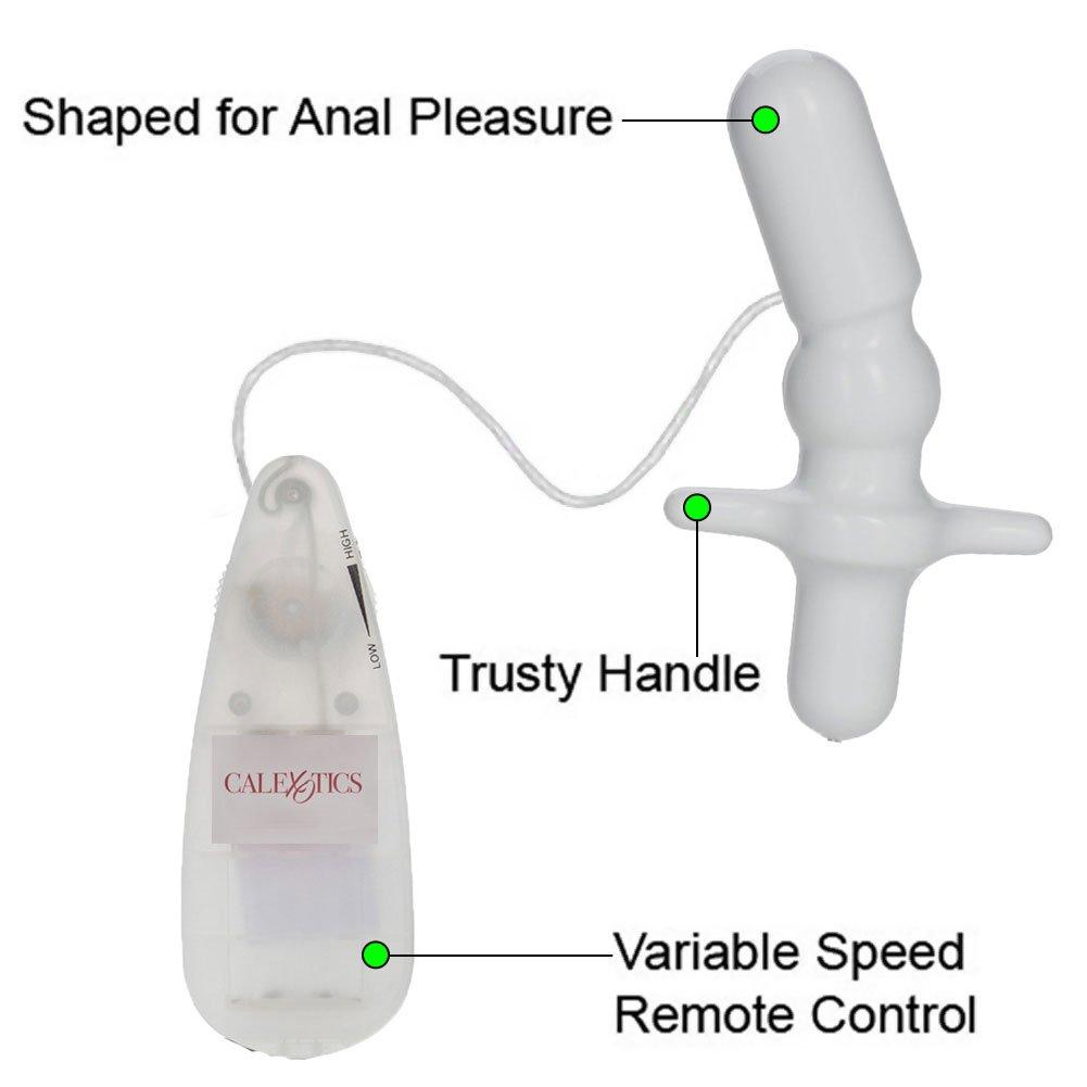 "Contour T Vibrating Anal Plug 3"" White - View #1"