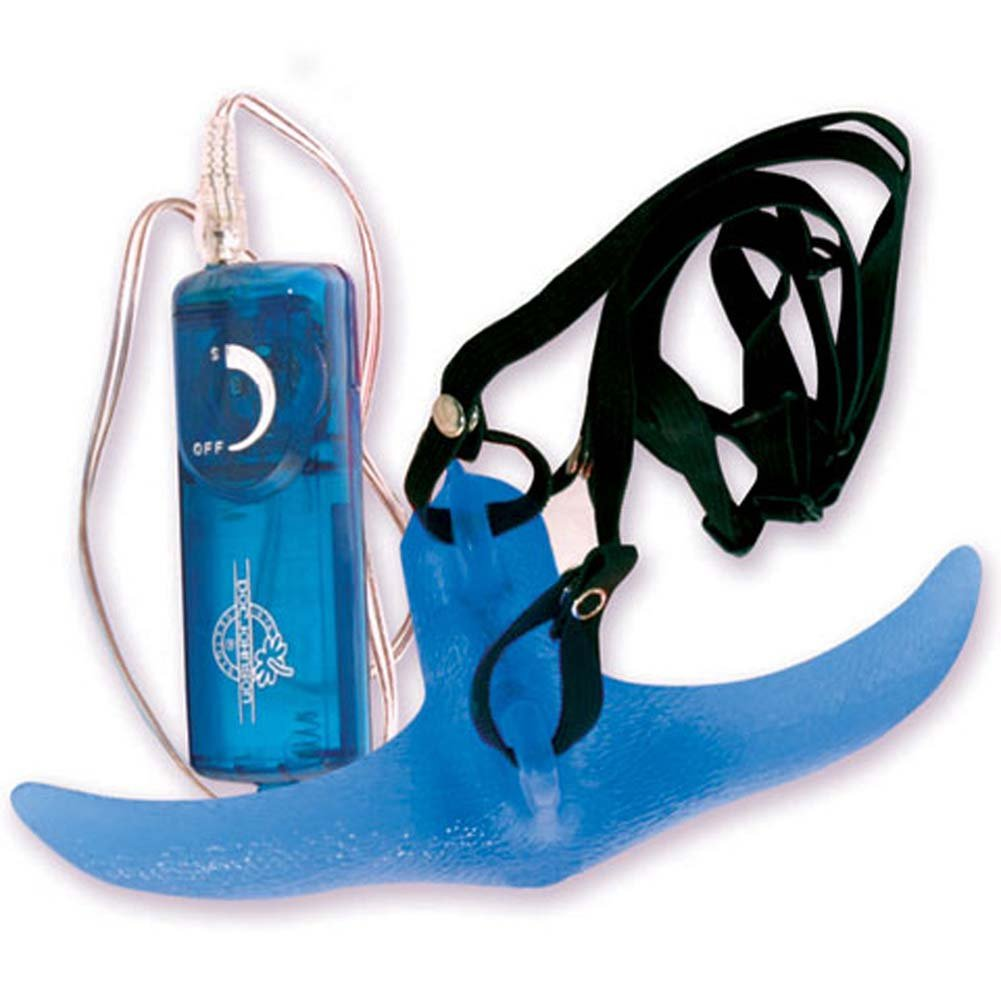 Horney Lover Strap-On Set with Vibe Blue 7 In. - View #4