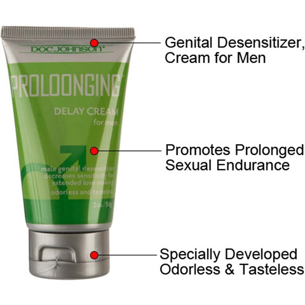 Doc Johnson Proloonging Delay Cream for Men 2 Ounce 56 G Boxed - View #1