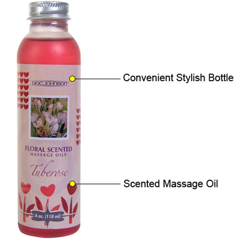 Floral Scented Massage Oil 4 Fl.Oz Tuberose - View #1