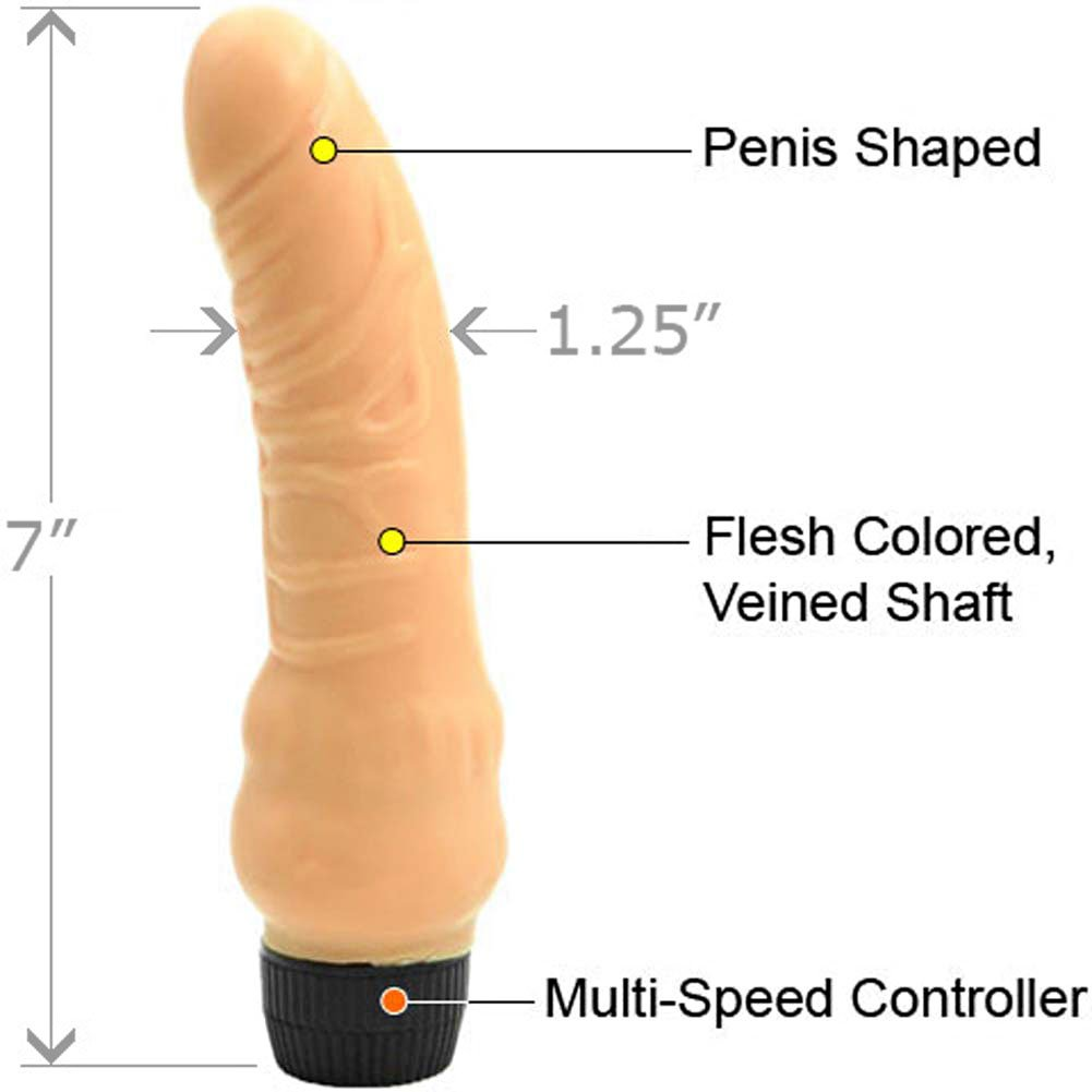 "Sensual Softy Realistic Personal Vibrator 7"" Natural - View #1"