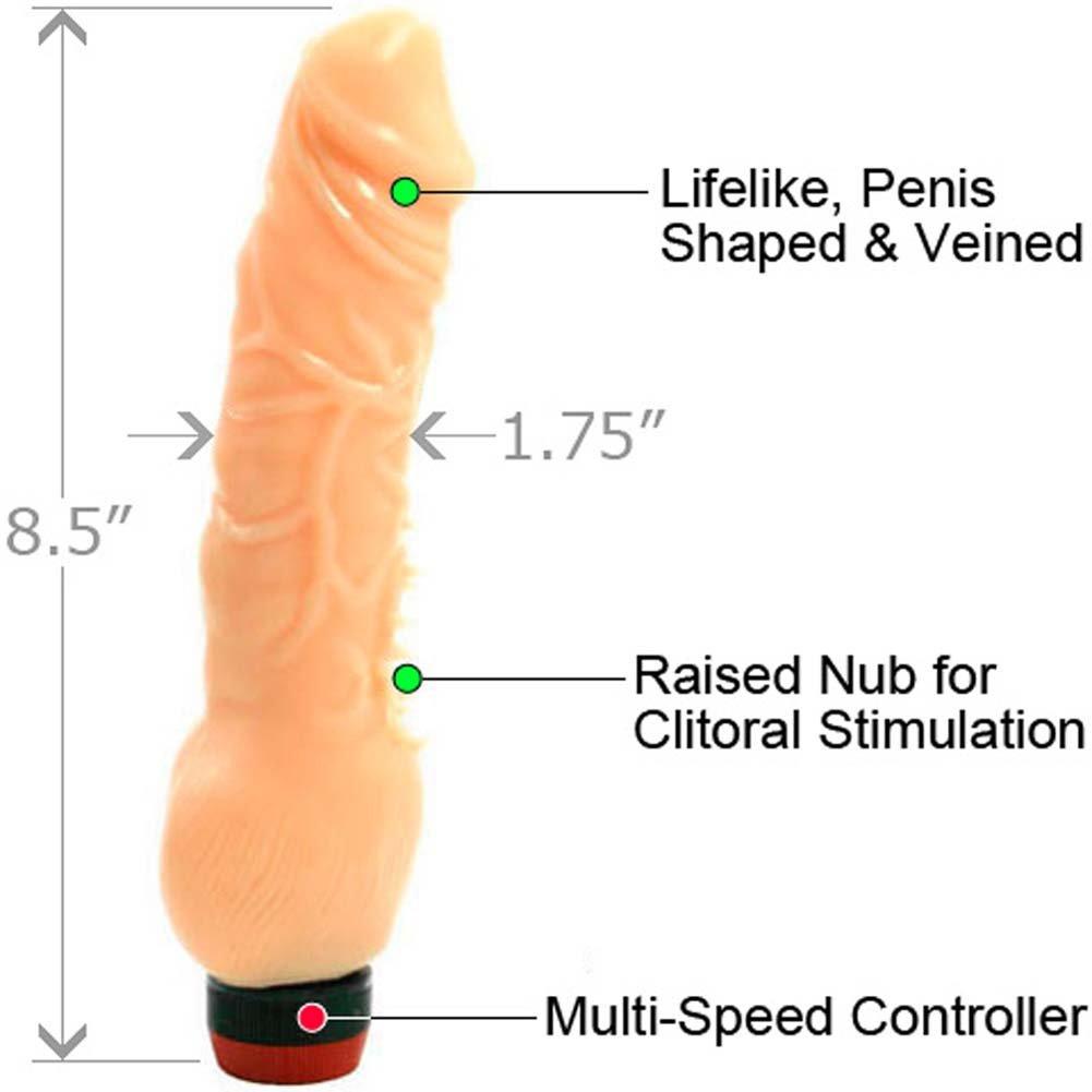 "Super Stud Flexible Clitterific Vibe 8.5"" Natural - View #1"