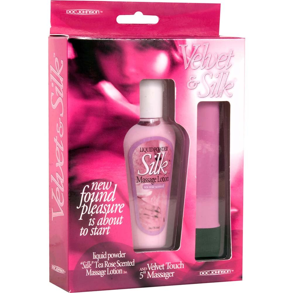 "Velvet and Silk Kit 5"" Vibe and Tea Rose Massage Lotion - View #1"