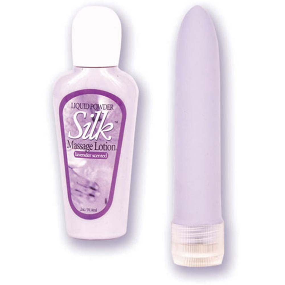 "Velvet Touch 5"" Massager with Lavender Massage Lotion - View #2"
