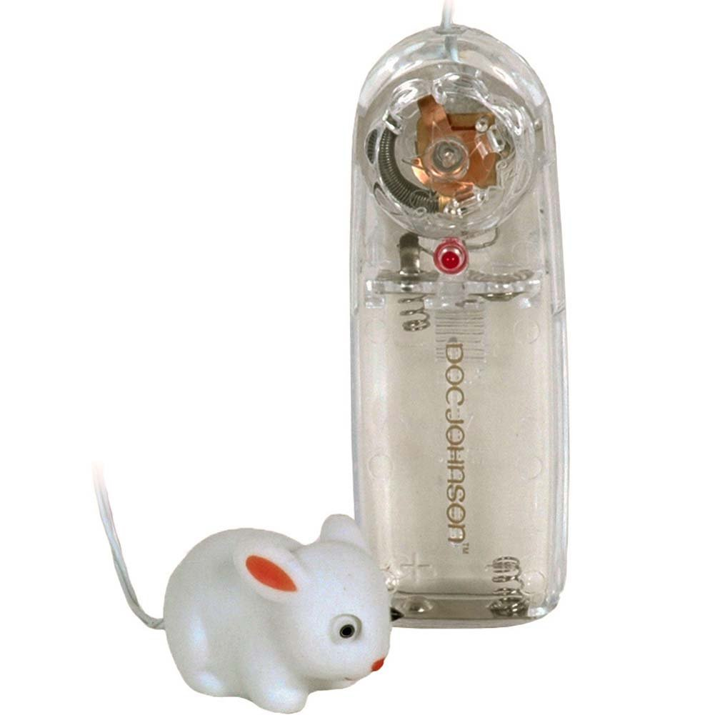 "Mini Mini Rabbit Vibrating Bullet 1.75"" White - View #2"