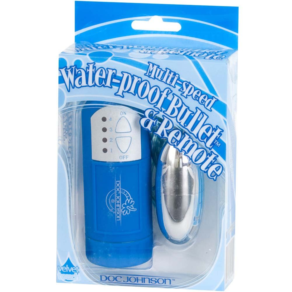 "Waterproof Bullet with Remote 2"" Blue - View #3"