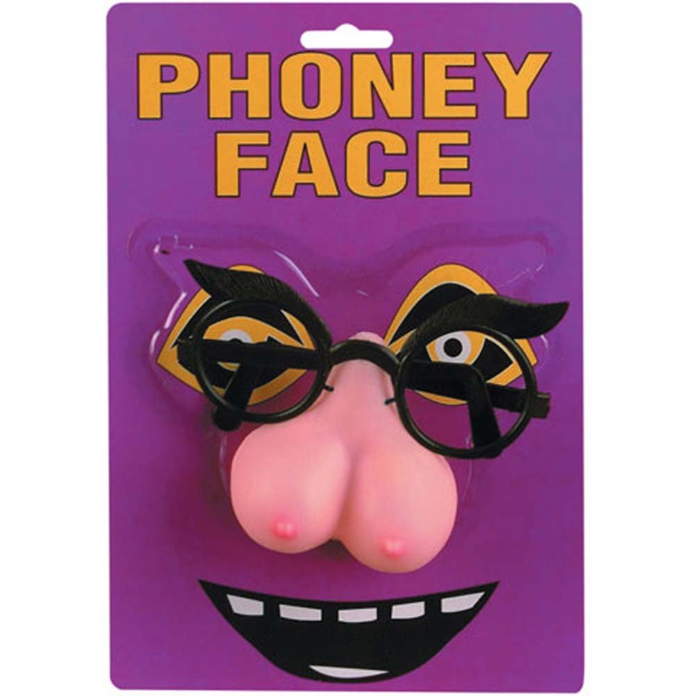 Pipedream Phoney Face Boobie Nose Novelty Glasses - View #2
