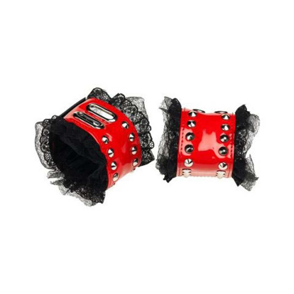 Red Patent Leather Cuffs - View #1