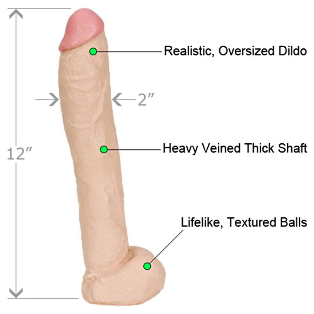 "Naturals Rubberline Dong with Balls 12"" Natural - View #1"