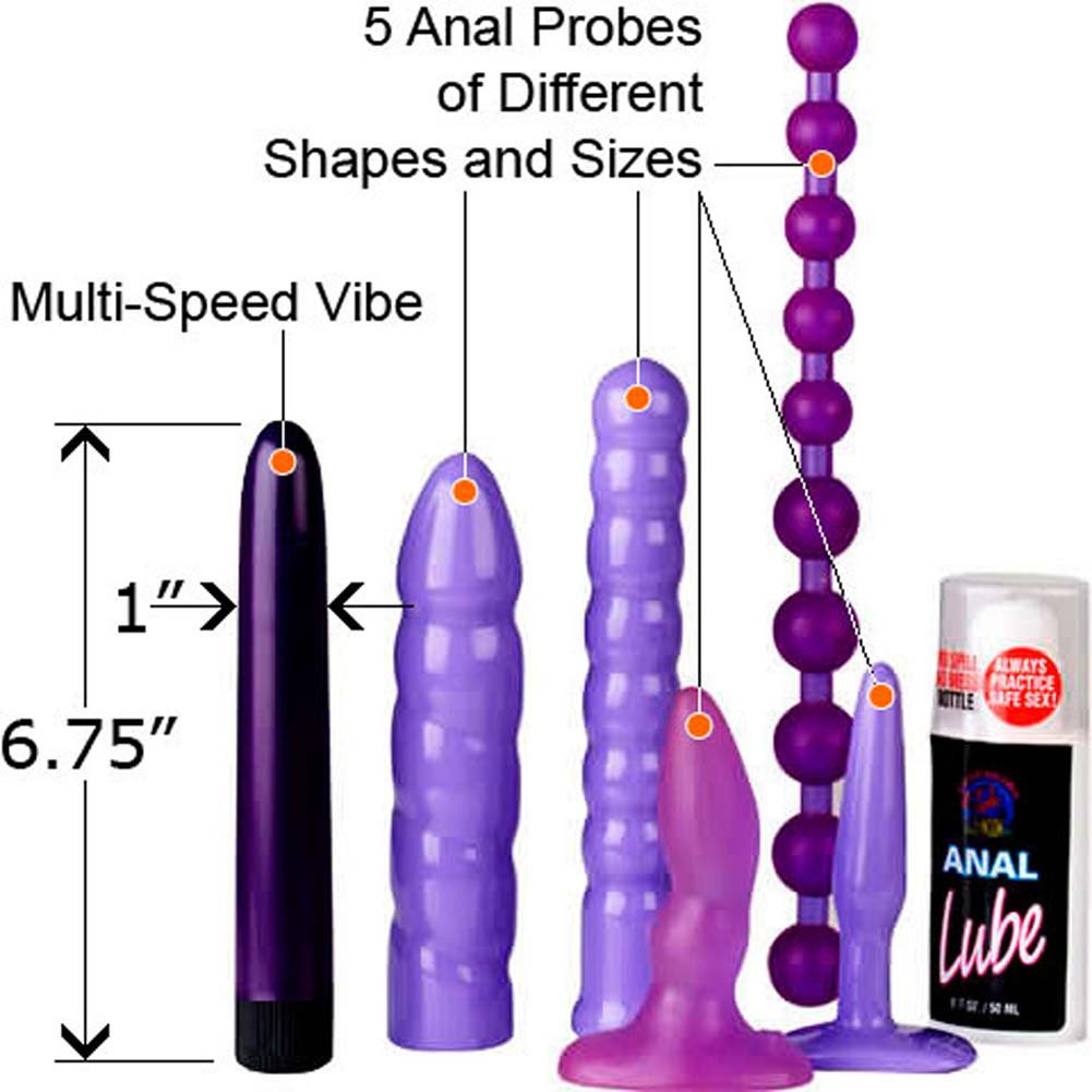 Kobe Tai Anal Adventure Vibrating Kit with 5 Anal Probes - View #1