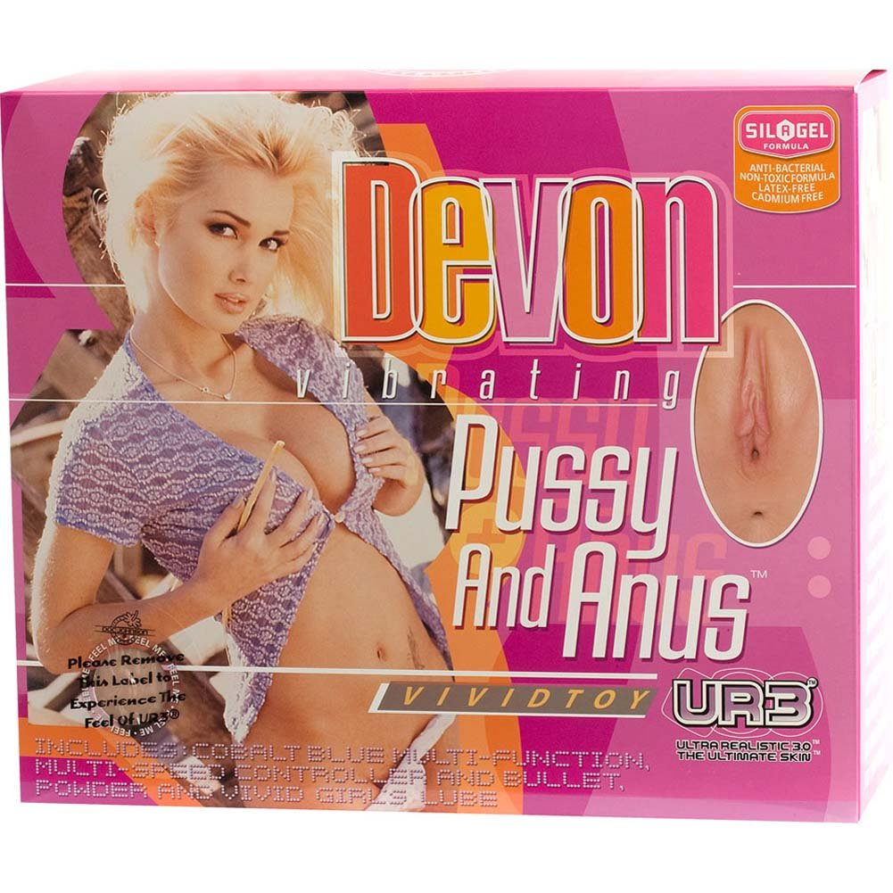 Devon UR3 Vibrating Pussy and Anus Natural - View #4