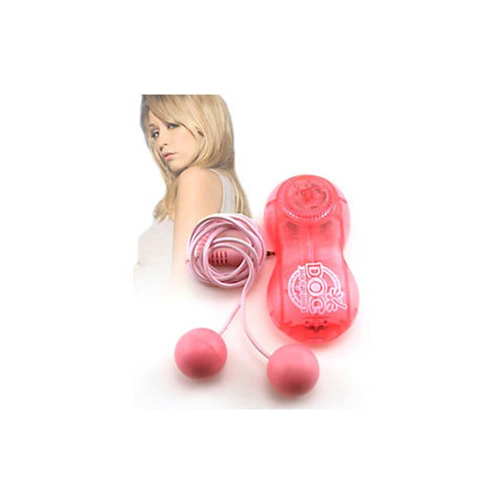 Moniques Double Bubble Vibrating Balls Pink 1 In. - View #3