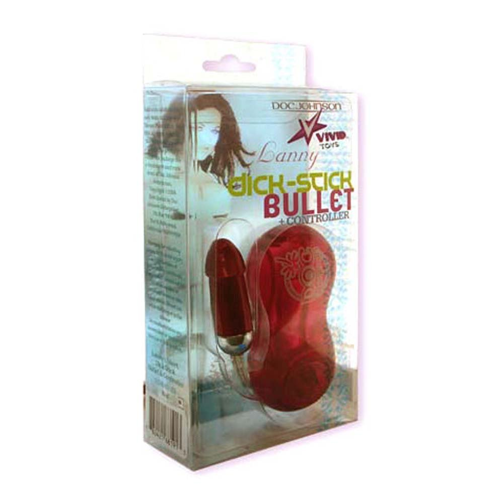 Lannys Short Dick Stick Bullet and Controller Red 2 In. - View #1