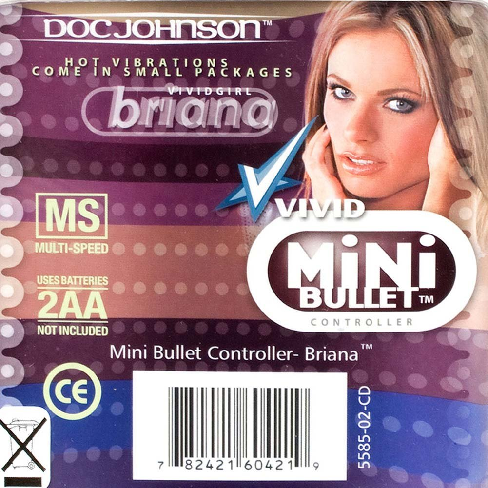 "Vivid Mini Bullet Vibrator by Briana 1.5"" Blue - View #3"
