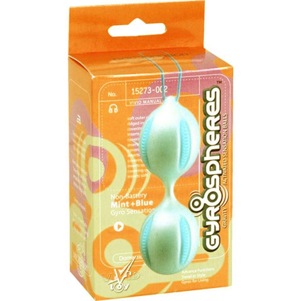 Gyrospheres Silicone Balls Mint and Blue 4 In. - View #1