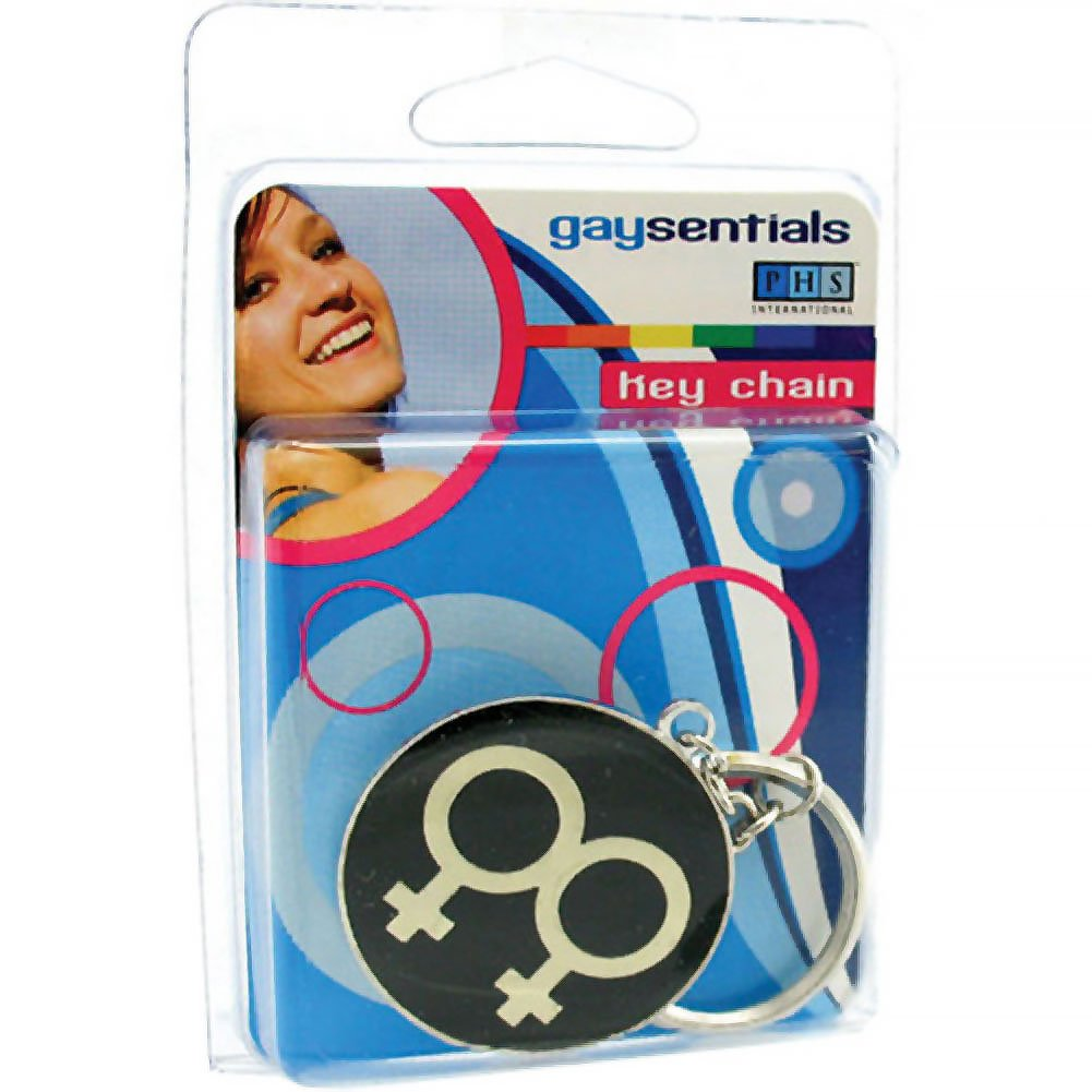 Gaysentials Double Female Key Chain - View #1