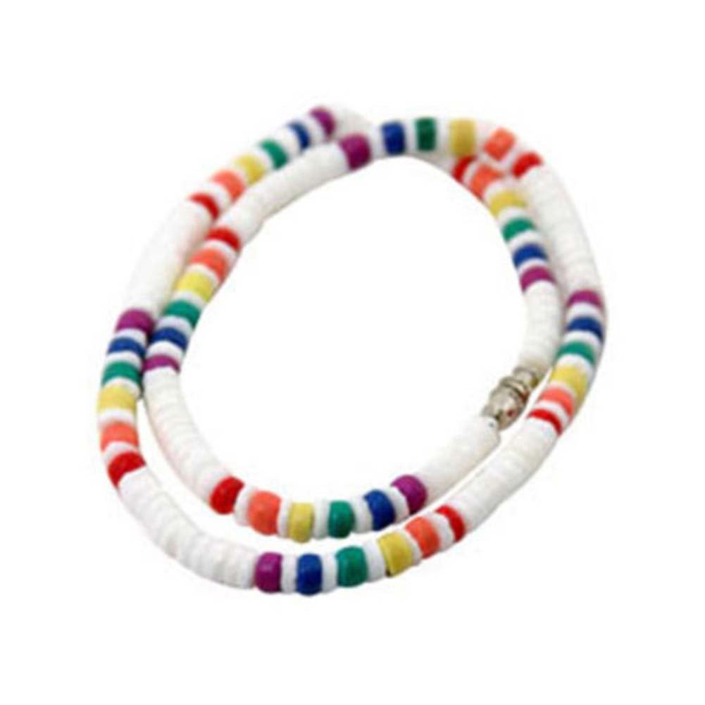 Gaysentials Rainbow Shell Necklace - View #1