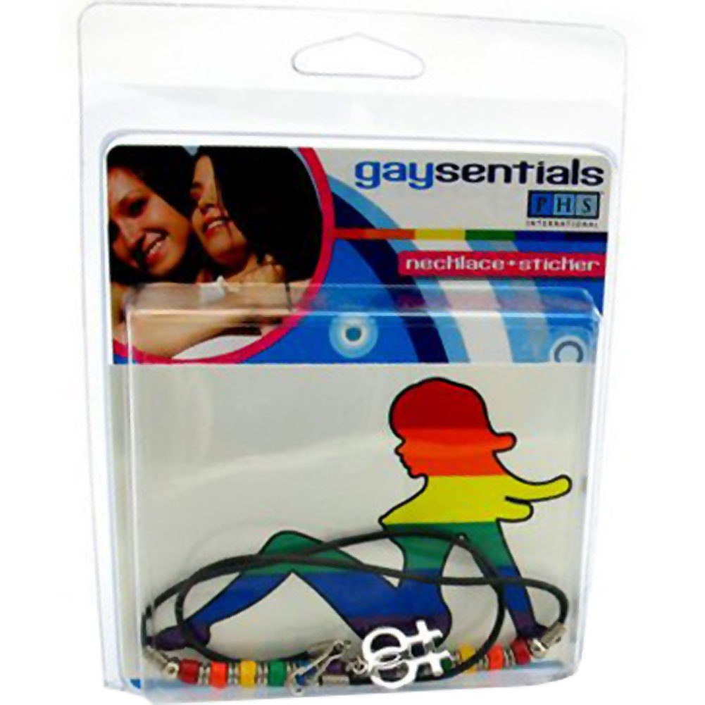 Gaysentials Double Female Necklace and Sticker - View #1