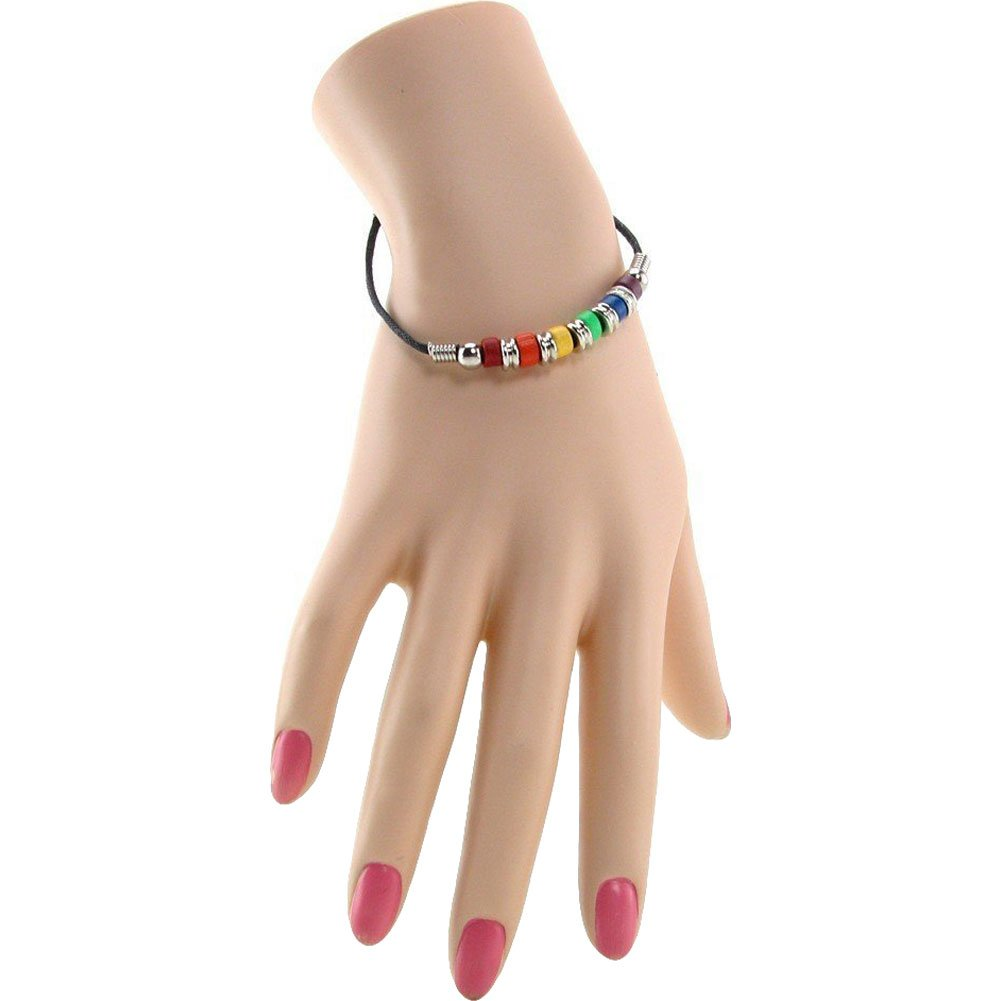 Gaysentials Rainbow Ceramic Beads Bracelet - View #1