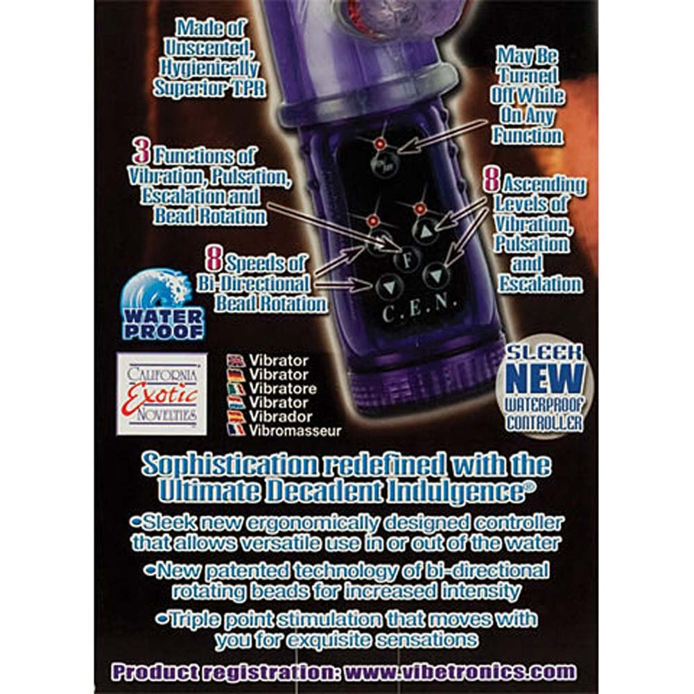 "Ultimate Decadent Indulgence Waterproof Vibe 10"" Grape - View #3"