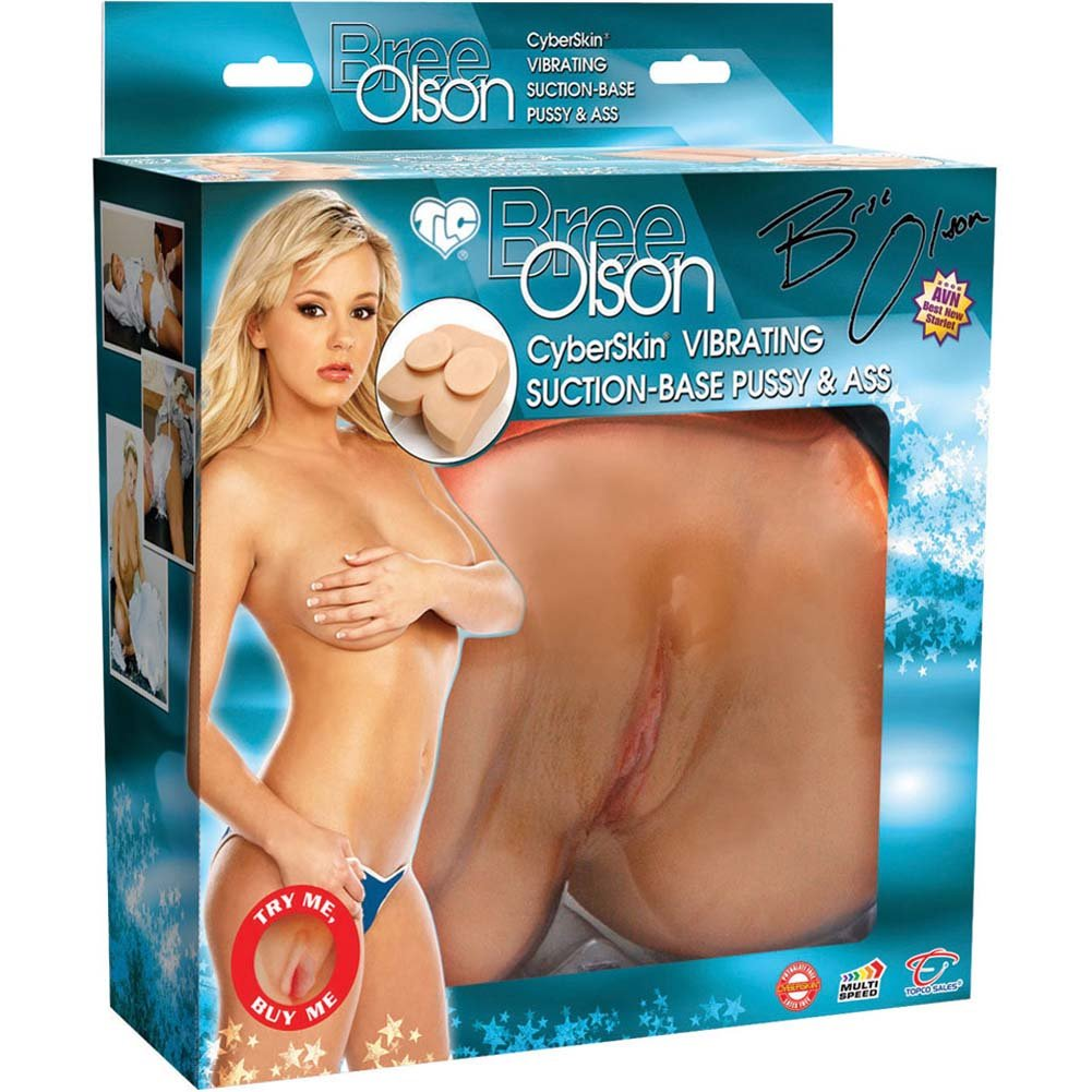 Bree Olson Suction Base CyberSkin Vibrating Pussy and Ass Natural - View #4