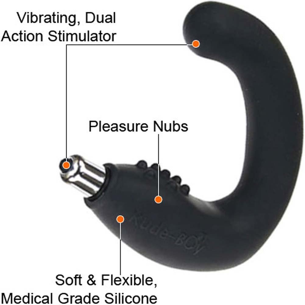 Rocks-Off Rude Boy Silicone Vibrating Butt Plug Black - View #1