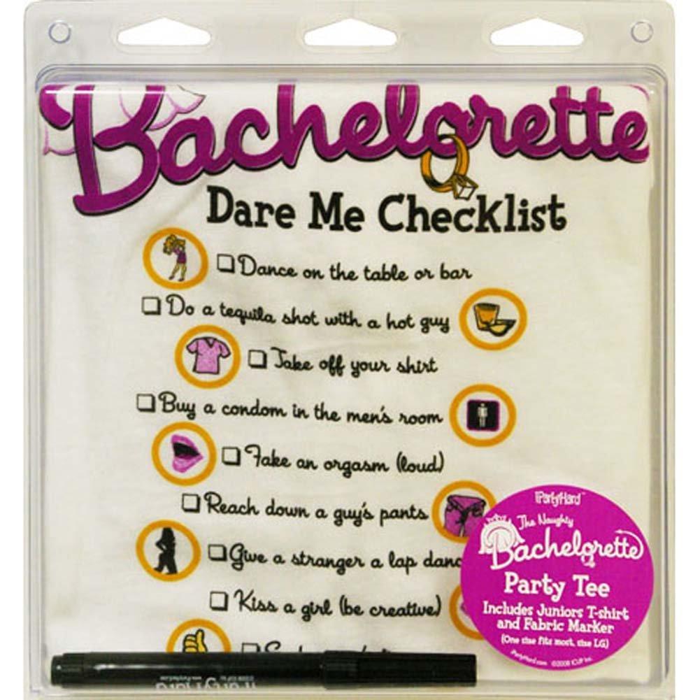 Bachelorette Dare Me Checklist T Shirt - View #1