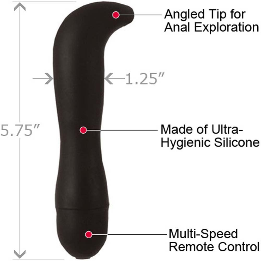 "CalExotics Dr. Joel Kaplan Power Probe Prostate Silicone G-Spot Vibe 5.75"" Black - View #1"