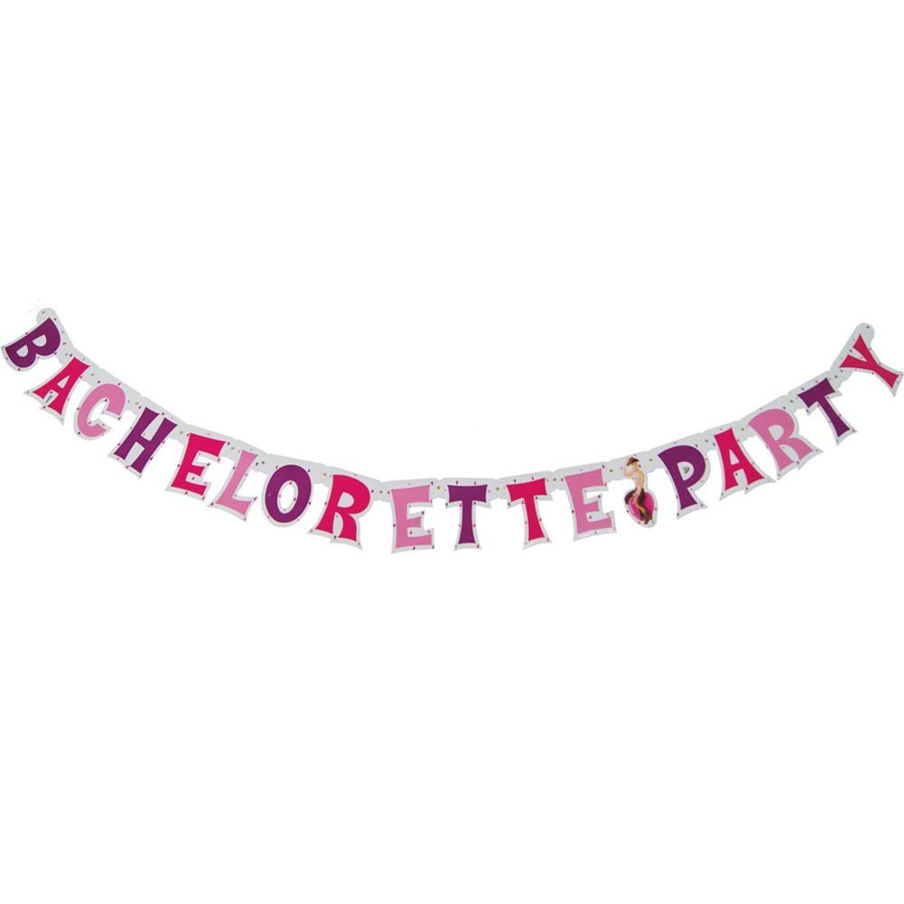 Bachelorette Party Letter Banner 9 Feet Long - View #2