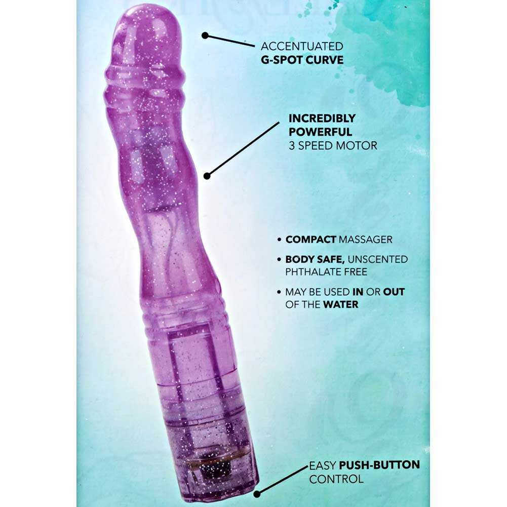 "California Exotics Sparkle Softees G-Spot Waterproof Vibrator 7"" Purple - View #1"