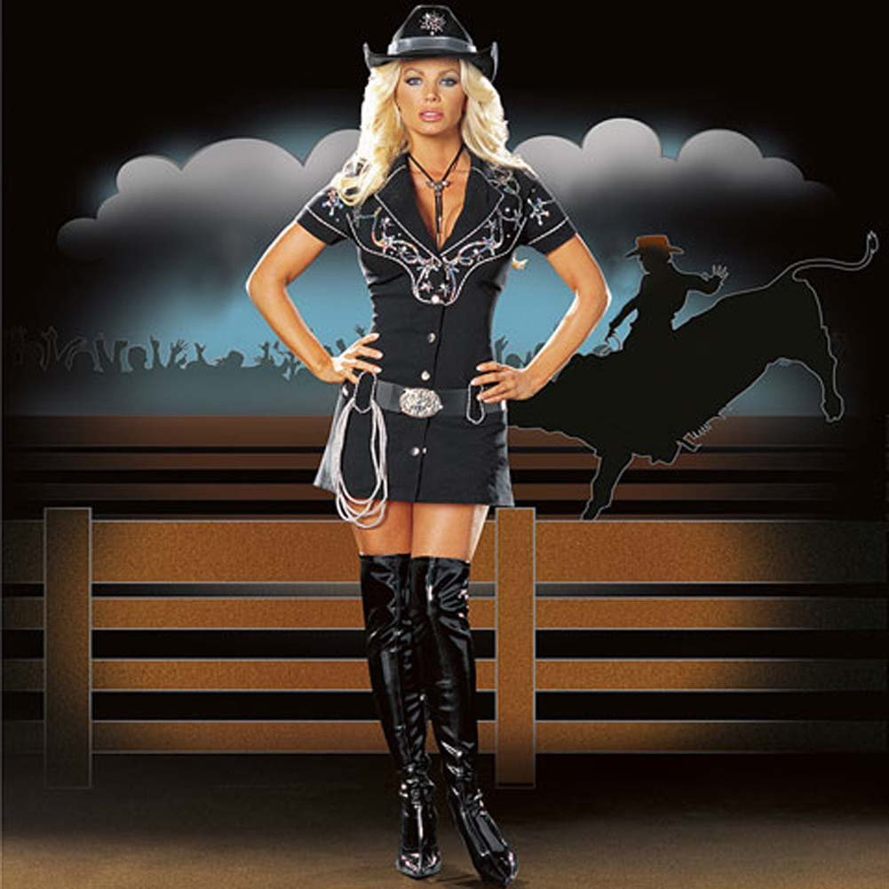 Rhinestone Cowgirl Costume Medium Size - View #1