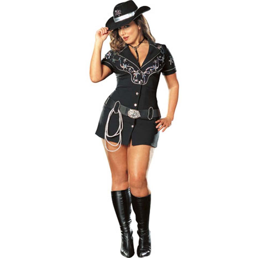 Rhinestone Cowgirl Costume Plus Size 3X/4X - View #2