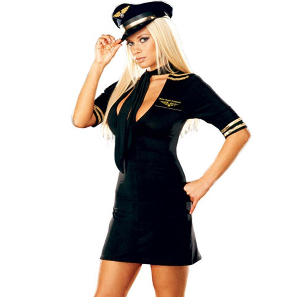 Mile High Captain Black Costume Medium Size - View #2