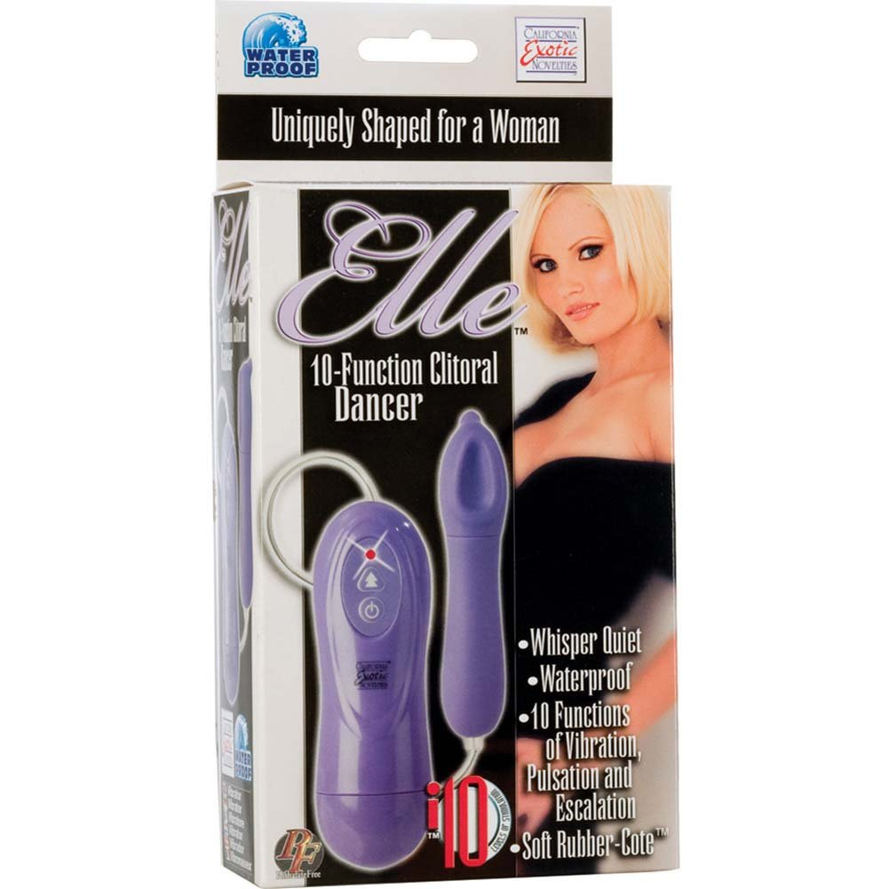 Elle 10 Function Clitoral Dancer Waterproof Vibe Purple - View #3