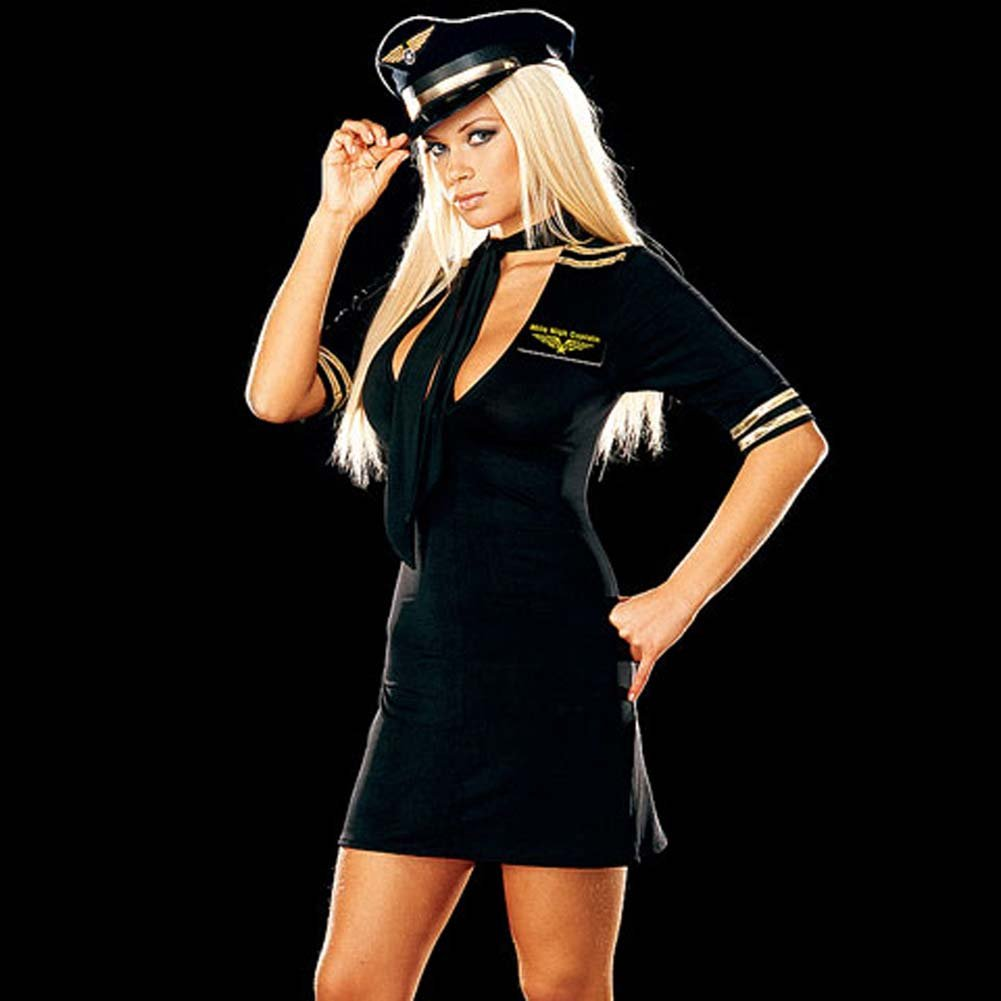 Mile High Captain Black Costume Small Size - View #1