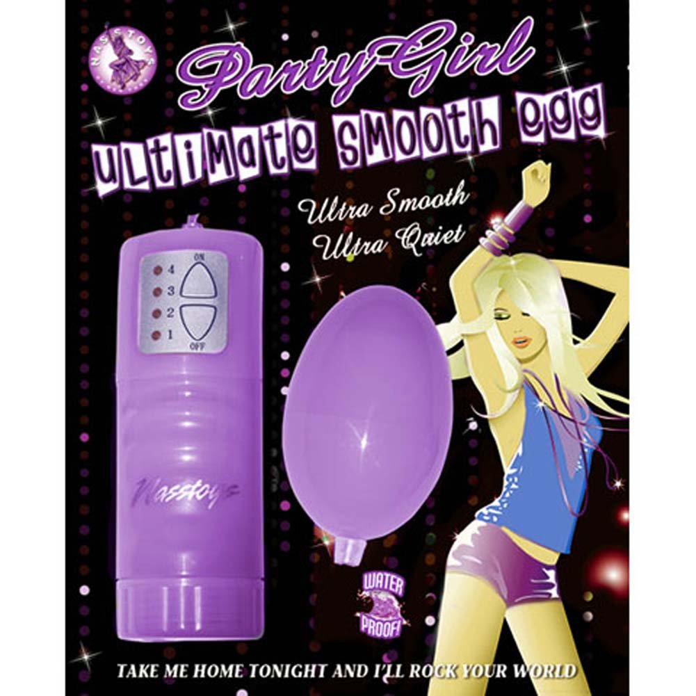 Party Girl Ultimate Waterproof Smooth Egg Purple - View #2