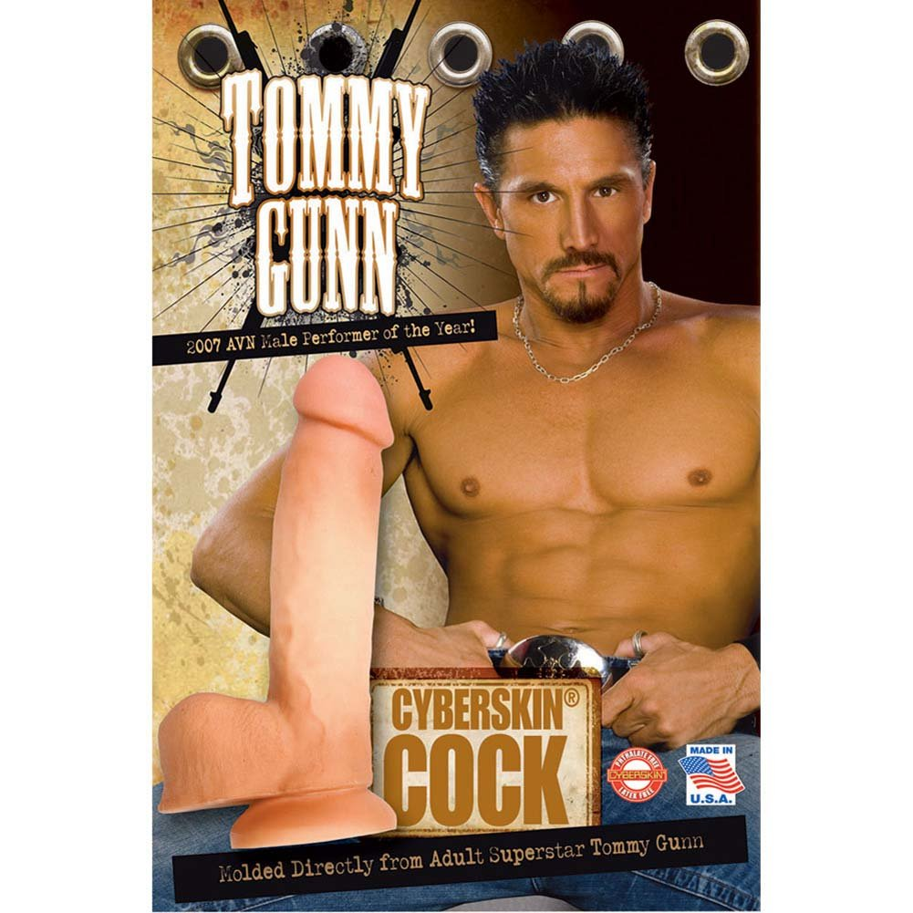 "Tommy Gunn CyberSkin Cock 9.25"" Natural - View #3"